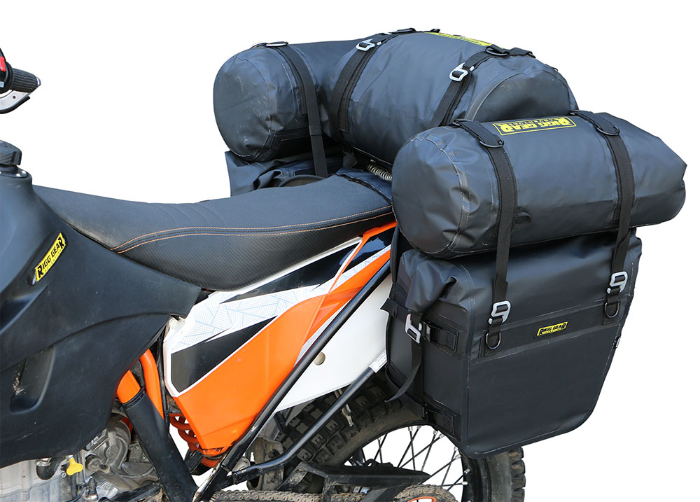 Nelson rigg ridge roll dry bag 15l dual sport adventure for Motor cycle saddle bags