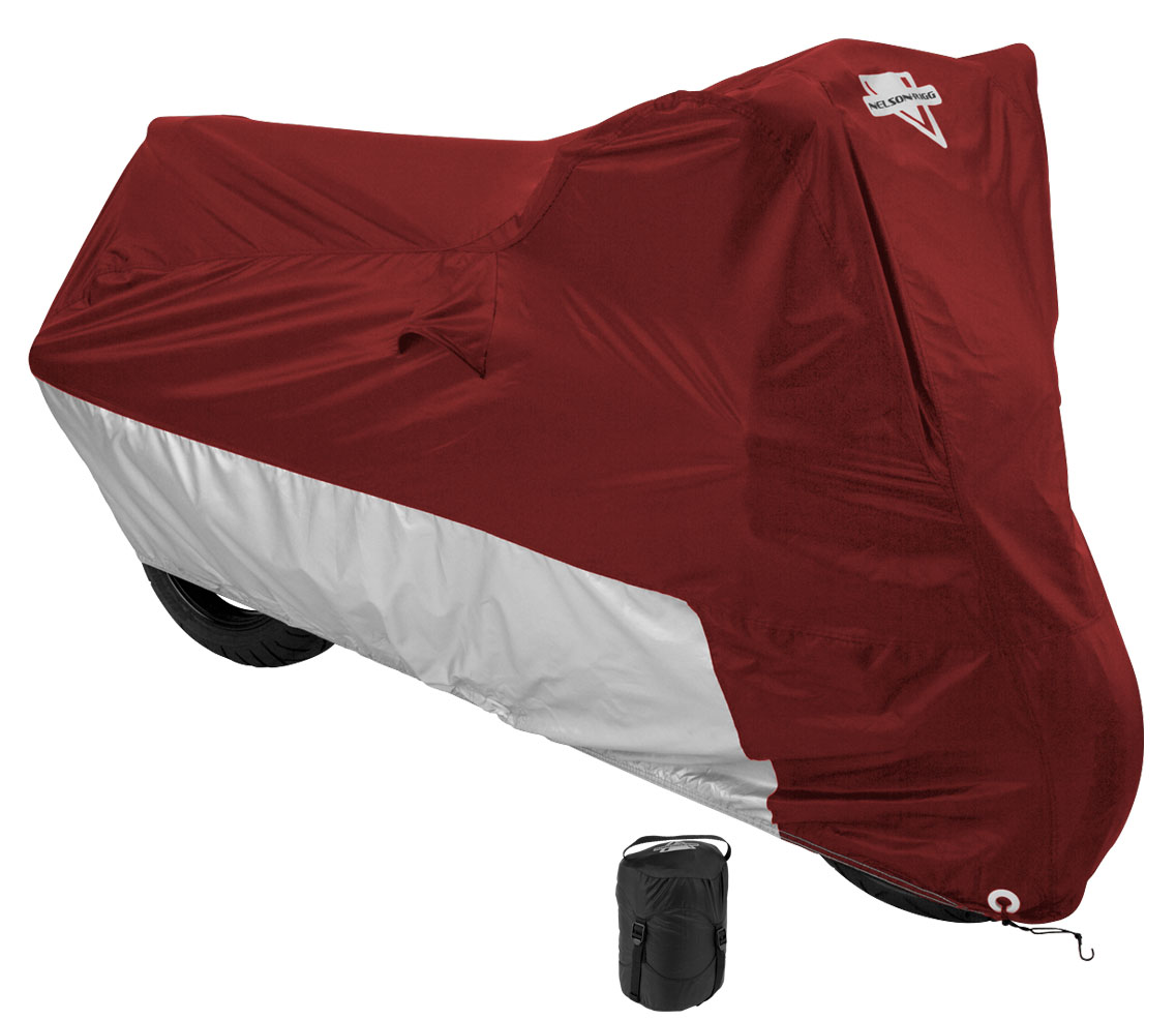 Sport Bike Dual-sport Motorcycle Cover UV Protection Red L Size