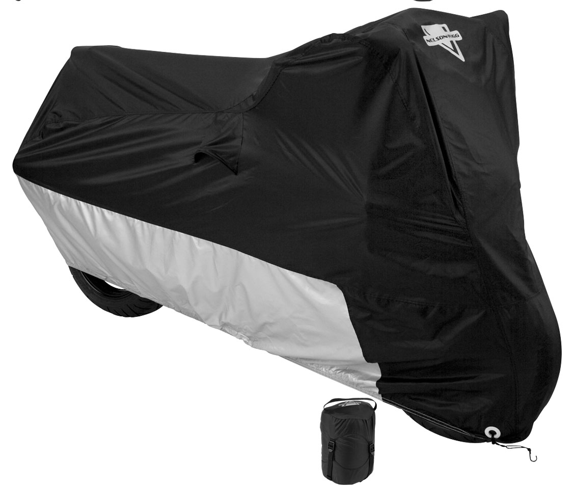 Nelson Rigg MC-904 Black Water Resistant Motorcycle Cover with Compression Bag