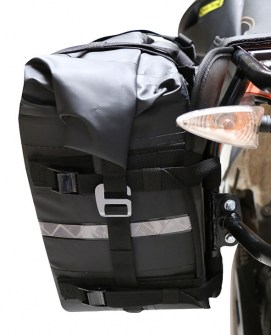 Nelson Rigg SE-3050-BLK Waterproof Motorcycle Dry Saddlebag Mounted Side View