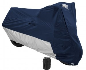 Nelson Rigg MC-902 Navy Blue Water Resistant Motorcycle Cover with Compression Bag