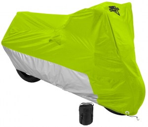Nelson Rigg MC-905 Hi-Visibility Yellow Water Resistant Motorcycle Cover with Compression Bag
