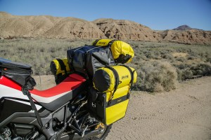 Nelson Rigg SE-3050 Yellow and Black Motorcycle Saddlebags Dry Saddlebags Waterproof